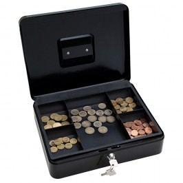 Wedo Geldkassette, 5 Fächer, Stahl, 300 x 240 x 90 mm, schwarz
