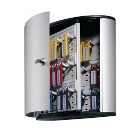 Durable Schlüsselschrank Key BOX, Aluminium, Schlüsselschloss, für: 36 Schlüssel, 302 x 118 x 280 mm, silber