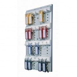 Durable Schlüsselbrett Key Board 24, Kunststoff, für: 24 Schlüssel, 212 x 360 mm, grau