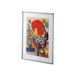 Bilderrahmen, mit Antireflexfolie, 59,4 x 84,1 cm, Aluminiumrahmen, silber