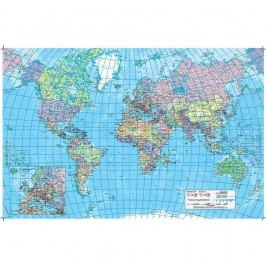 Staples Schreibunterlage, Welt- und Europakarte, Kunststoff, mit Vollsichtauflage, 62,1 x 41 cm, bunt