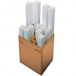 Pressel Zeichenrollenständer, 20 Fächer, Wellpappe, 46 x 35,3 x 60 cm, braun