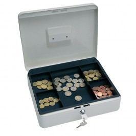 Wedo Geldkassette, 5 Fächer, Stahl, 200 x 160 x 90 mm, weiß