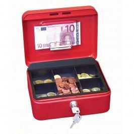 Wedo Geldkassette, Gr. 2, 5 Fächer, Stahl, 200 x 160 x 90 mm, rot