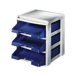 Leitz Stapelmodulset, Polystyrol, A4, 290 x 360 x 315 mm, blau