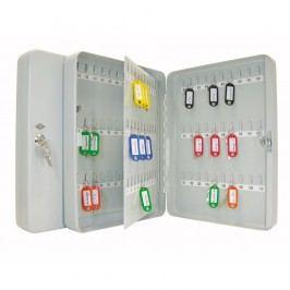 Wedo Schlüsselschrank, für: 110 Schlüssel, 280 x 80 x 370 mm, lichtgrau