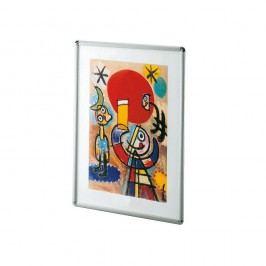 Bilderrahmen, mit Antireflexfolie, 42 x 59,4 cm, Aluminiumrahmen, silber