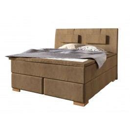 Boxspringbett Gulian Royal 100 - 210 x 200 cm incl. Nackenkissen und Topper, 180 x 200 cm Prairie sand