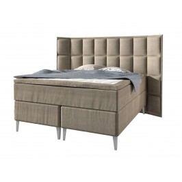 Boxspringbett Lorena Premium 160180200 x 200 cm incl. Topper, 200 x 200 cm Lino beige