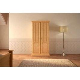 Kleiderschrank 23456-türig Duett Pinie massiv, mit 2 Türen Pinie karamell