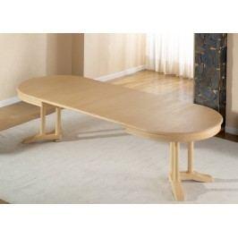 Esstisch oval mit Einlagen vergrößerbar Allegro Pinie massiv, Pinie weiß lackiert
