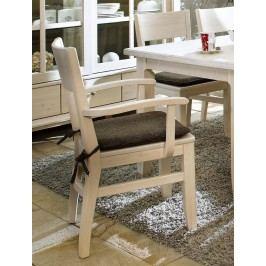 Esszimmer-Stuhl Provence mit Armlehne weiß lasiert, ohne Sitzkissen