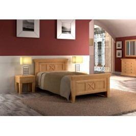 Bett Einzelbett Quadro 100 x 200 cm Pinie massiv, Pinie karamell
