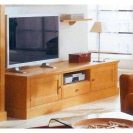 TV-Lowboard Santos Pinie massiv, Pinie havanna