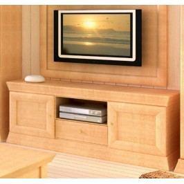 TV-Lowboard Quadro Pinie massiv, Pinie karamell