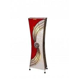 Stehlampe Alisa mit Bambusringen eckige taillierte Form Höhe 100 cm