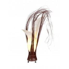 Tischlampe Bunga blumige stoffbezogene Form Höhe 50 cm Stoffbezug cream