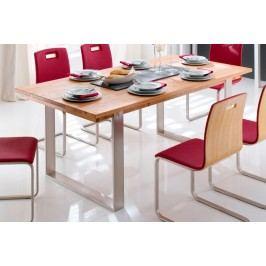 Kufentisch Boston 140 - 220 cm breit Wildeiche geölt, 160 cm + 50 cm