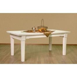 Esstisch mit fester Platte oder Klappeinlage Pinie massiv, feste Platte 180 x 95 cm Pinie weiß gekälkt
