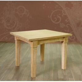 Esstisch mit fester Platte oder Klappeinlage Pinie massiv, 80 x 80 + 1 Klappeinl. 40 cm Pinie weiß gekälkt