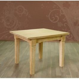 Esstisch mit fester Platte oder Klappeinlage Pinie massiv, 120 x 80 + 1x Klappeinlage 40 cm Pinie weiß gekälkt