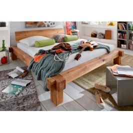 Balkenbett Lana 140160180 x 200 cm natur geölt mit Rissen, 140 x 200 cm ohne Schubladen-Set