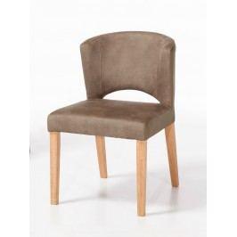 Esszimmer-Stuhl Rimini festgepolstert Wildlederoptik, taupe