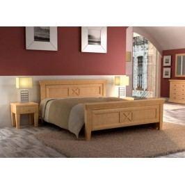 Bett Doppelbett Quadro 140160180200 x 200 cm Pinie massiv, Pinie karamell 160 x 200 cm