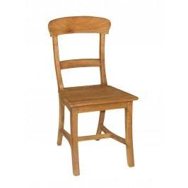 Stuhl-SET Tanja 6 Stück mit Holzsitzfläche Teakholz gebürstet unbehandelt, ohne Sitzkissen