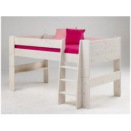 STEENS for Kids Halbhochbett mit Gerader Leiter Kiefer massiv 2906130013001N