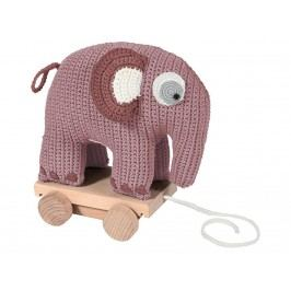SEBRA® Häkel-Nachziehtier Elefant Altrosa 3001205