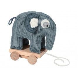SEBRA® Häkel-Nachziehtier Elefant Wolkenblau 3001105