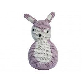 SEBRA® Häkel-Stehaufmännchen Kaninchen Altrosa 3012202