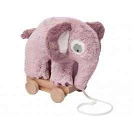 SEBRA® Plüsch-Nachziehtier Elefant Altrosa 3001210