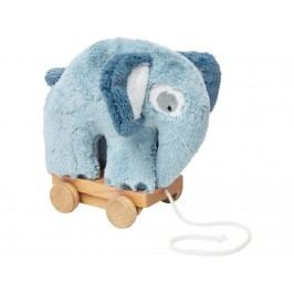 SEBRA® Plüsch-Nachziehtier Elefant Wolkenblau 3001111