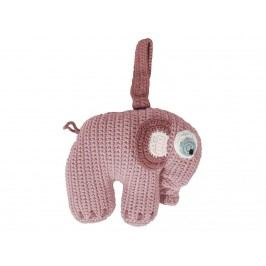 SEBRA® Häkel-Spieluhr Elefant Altrosa 3013202