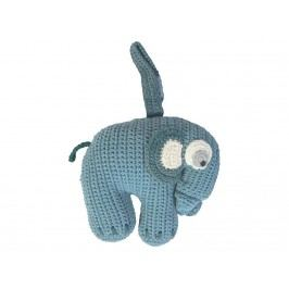 SEBRA® Häkel-Spieluhr Elefant Wolkenblau 3013102