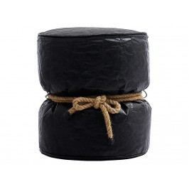 LAZY LIFE PARIS Couronnes Pouf Hocker Schwarz 301-BB0106