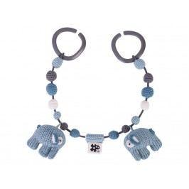 SEBRA® Häkel-Kinderwagenkette Elefant Wolkenblau 4006101