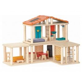 PLAN TOYS PlanToys Puppenhaus Spielhaus kreativ Höhe 36cm 4007610
