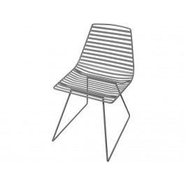 SEBRA® Me-Sit Metallstuhl Dunkelgrau Sitzhöhe 48cm 2007301