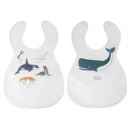 SEBRA® Kunsstoff Lätzchen Arctic Animals 2er-Set 7005208