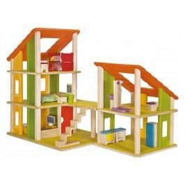 PLAN TOYS PlanToys Puppenhaus Ferienhaus inkl. Möbel bunt Höhe 48cm 4007602