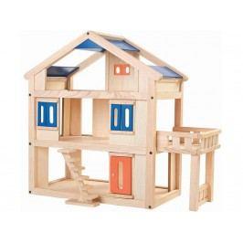 PLAN TOYS PlanToys Puppenhaus mit Terrasse Höhe 55cm 4007150