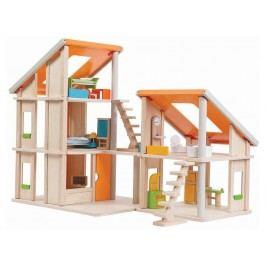 PLAN TOYS PlanToys Puppenhaus Chalet inkl. Möbel Höhe 50cm 4007141