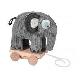 SEBRA® Häkel-Nachziehtier Elefant Grau 3011302