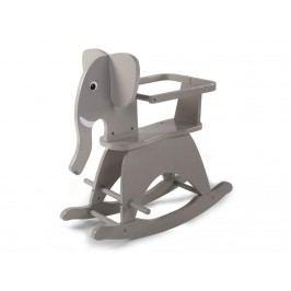 CHILDHOME Schaukeltier Schaukel Elefant Grau mit Bügel CWRELPH