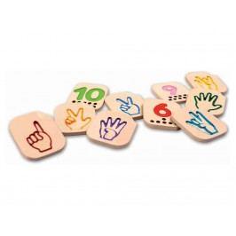 PLAN TOYS PlanToys Zahlen 1-10 Handzeichen 4005655