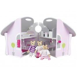 JABADABADO JaBa DOLL Puppenhaus mit Bärenfamilie W7072