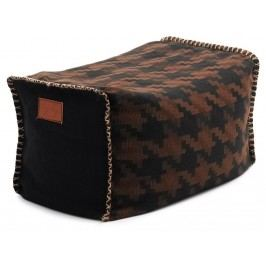 LAZY LIFE PARIS Bel Air Pouf Hocker Schwarz/Braun 296-CF-PDC1
